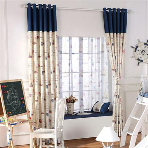 navy and beige curtains navy and beige color block nautical print poly cotton