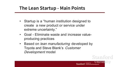 design thinking vs lean startup stanford webinar design thinking vs the lean startup