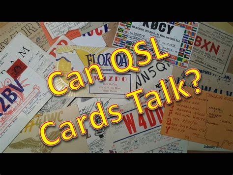 how to make qsl cards can qsl cards talk