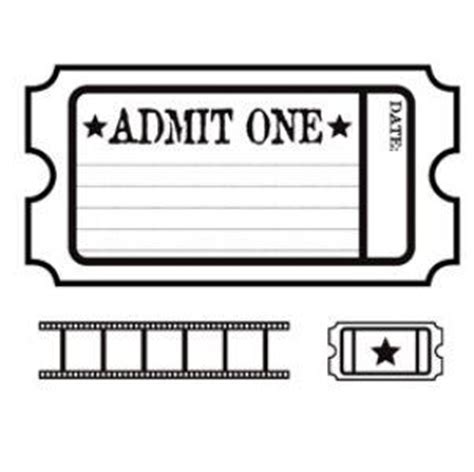 admit one ticket invitation template admit one ticket template clipart best