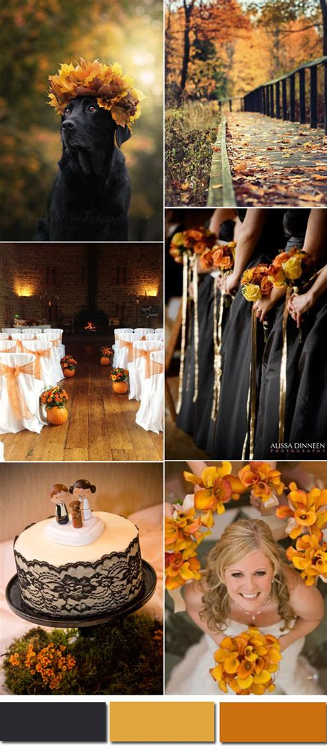 orange wedding colors five awesome fall wedding colors in shades of black