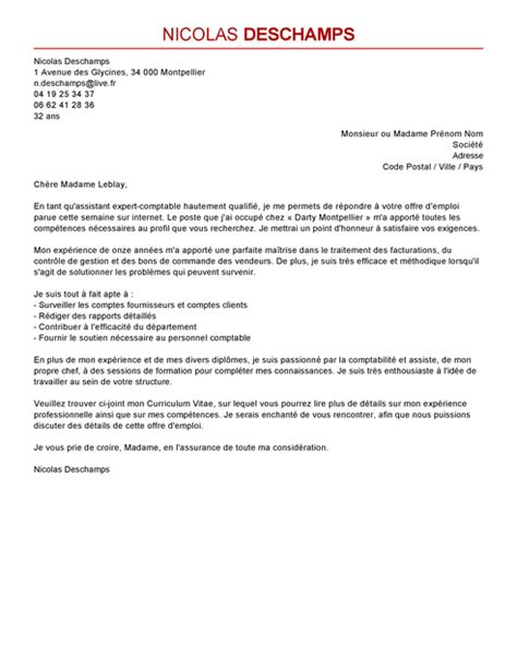 Exemple De Lettre De Motivation Pour Emploi Comptable Lettre De Motivation Assistant Expert Comptable Mod 232 Le Lettre De Motivation Assistant Expert