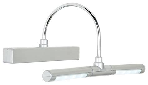battery powered led bathroom lights eight led battery powered 13 quot wide dimmable picture light