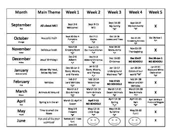 kindergarten yearly themes 2013 2014 preschool yearly plans primary special ed