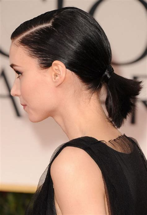 short hair on top and sides poney tail in back ponytail hairstyles for short hair