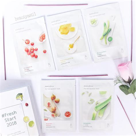 Review Harga Innisfree innisfree my real squeeze mask all variants review