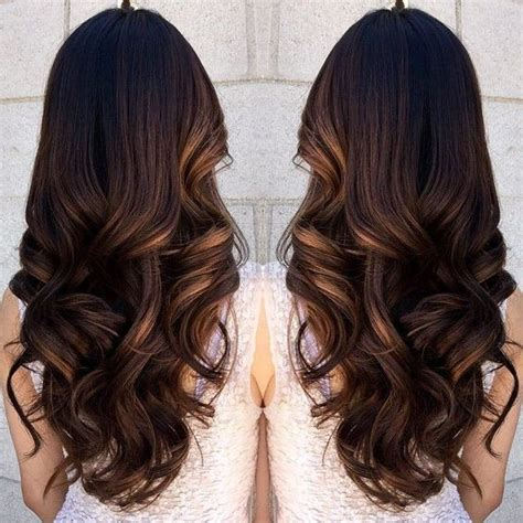 loose curls long hair pretty caramel highlight and loose curls we this
