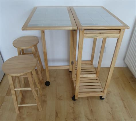 Breakfast Table With 2 Stools by 2 Seater Breakfast Bar Set Folding Kitchen Table With