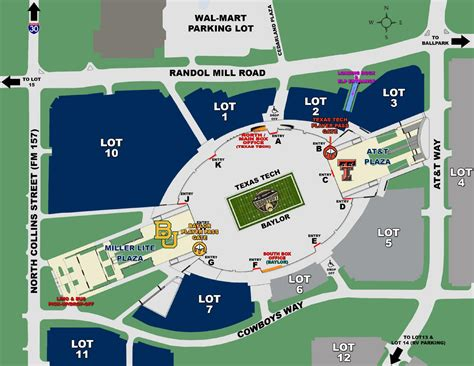 at t stadium map at t stadium area map with gate labels by tech