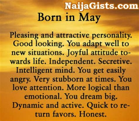 born with characteristics happy birthday to all may born fans meet nigerian