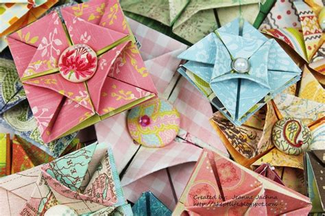 Origami Fabric Flowers - 17 best images about origami quilt blocks on