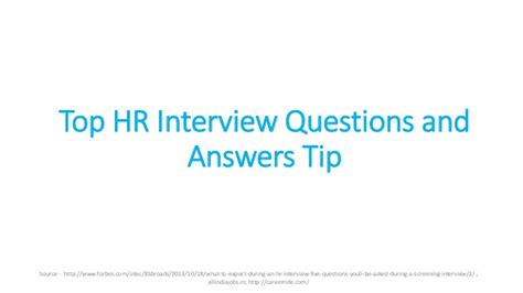top hr questions and answers tips