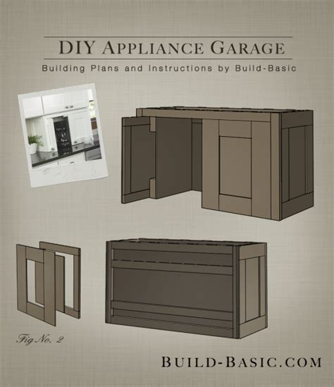 How To Build A Kitchen Cabinet by Build A Diy Appliance Garage Build Basic