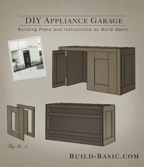 Kitchen Corner Cabinet Storage by Build A Diy Appliance Garage Build Basic