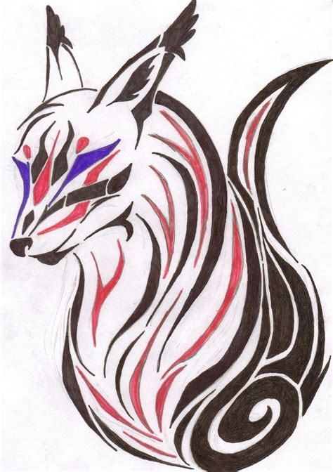 tribal fox tattoo by agentninetalesx on deviantart