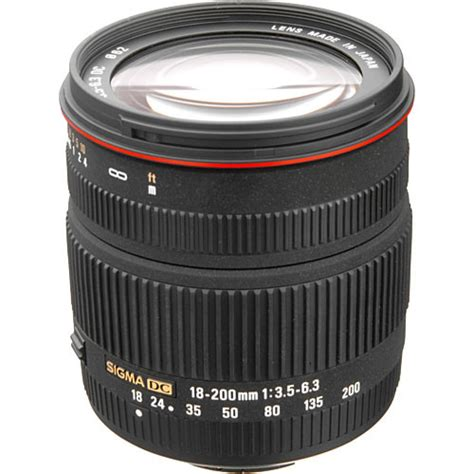 Sigma 18 200 Nikon Sigma 18 200mm F 3 5 6 3 Ii Dc Lens For Nikon Digital Slr