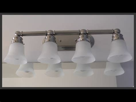 off center bathroom light fixture bathroom vanity light fixture installation youtube