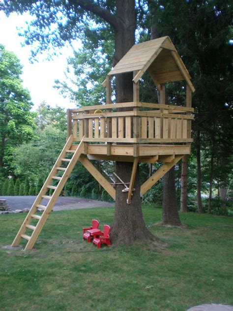 backyard treehouse for kids tree fort ladder gate roof finale tree houses tree