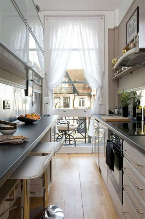 kind and function in a galley kitchen decor advisor 31 stylish and functional super narrow kitchen design