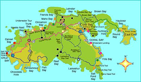 map of st johns islands the beaches of usvi the m 252 scleheaded