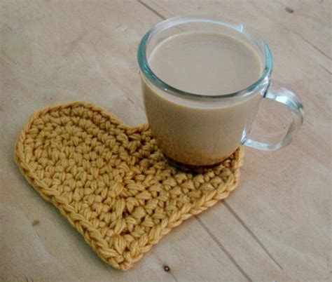 heart home decor pdf pattern crochet heart home decor coaster by