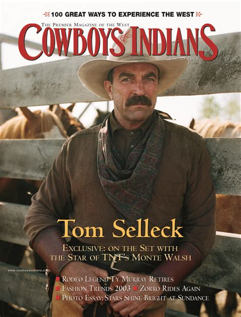 Tom Selleck Calendar Tom Selleck November 2000 Cowboys And Indians Magazine
