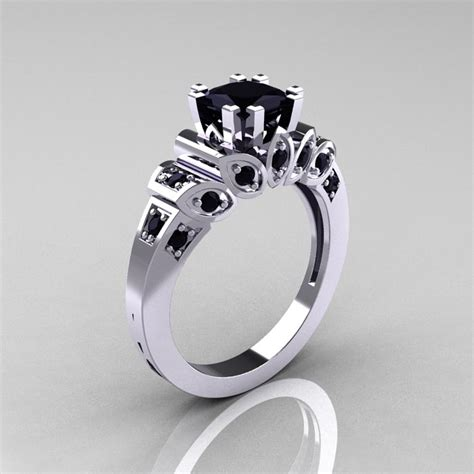 Verlobungsring Besonders by Classic 10k White Gold 1 23 Ct Princess Black