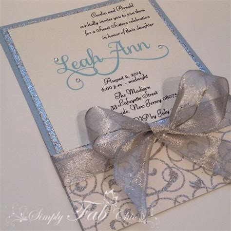 Handmade Sweet 16 Invitations - 101 best images about invitations tags on