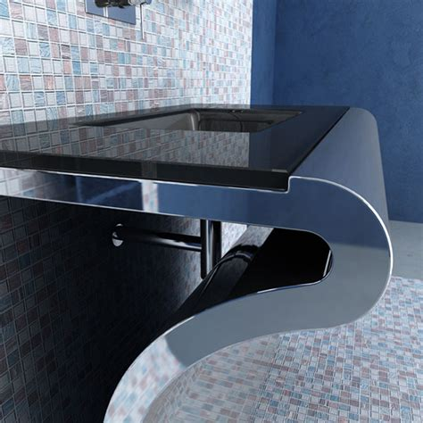 Modern Glass Bathroom Vanities Modern Bathroom Vanities Venti Glass Decobizz