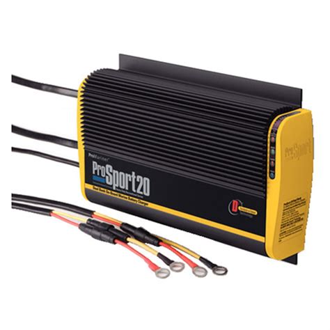 boat battery box with charger promariner 174 heavy duty on board marine battery charger