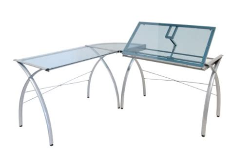 all glass table ls studio designs 50306 futura ls work center with tilt