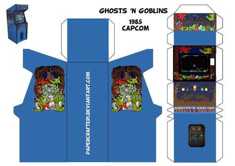 ghosts n goblins papercraft arcade template by