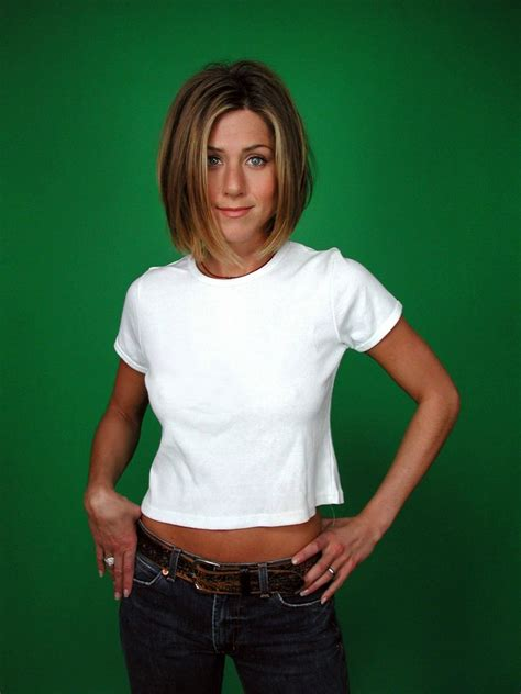jennifer aniston hairstyle 2001 jennifer aniston sure likes to show off her perky nipples