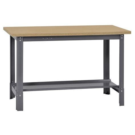 edsal 34 in h x 48 in w x 24 in d wooden top workbench