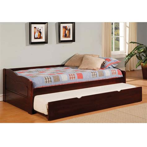 bed cameron size panel bed with trundle detode