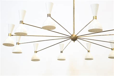 Grand Lustre by Grand Lustre Italien Moderne 12 Branches Stilnovo Sarfatti