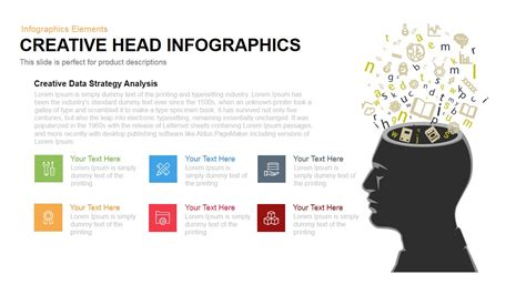 creative head infographics powerpoint and keynote template