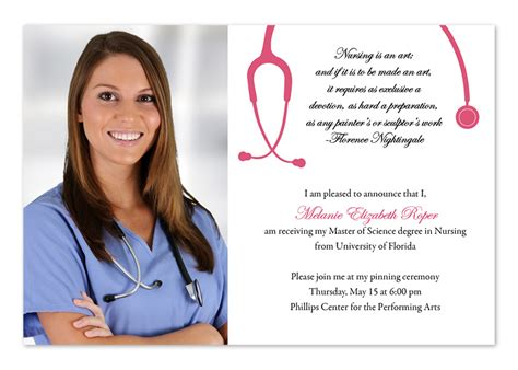 nursing graduation invitation templates invitations nursing school graduation invitations