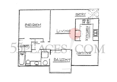 huntington floor plan balboa floorplan 860 sq ft huntington landmark