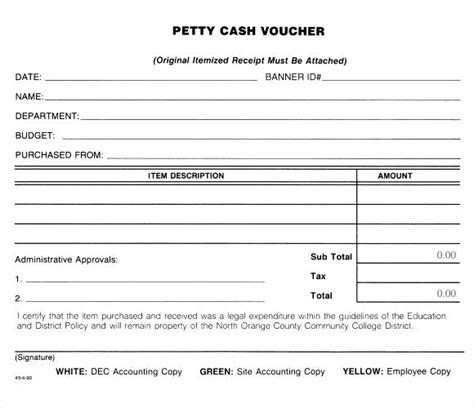 petty receipt voucher template petty receipt form petty voucher free petty