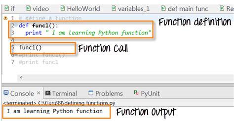 python tutorial def python functions tutorial define call indentation