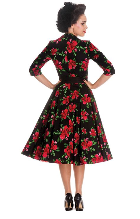 swing kleid langarm 50er jahre retro swing langarm petticoat kleid