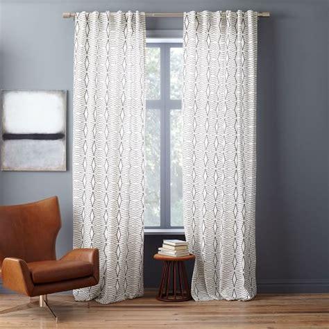Cotton Canvas Curtains Cotton Canvas Stripe Curtain White Slate West Elm