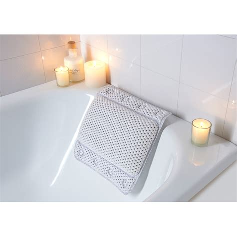 pillow for bathtub non slip cushioned bath pillow 302603 b m
