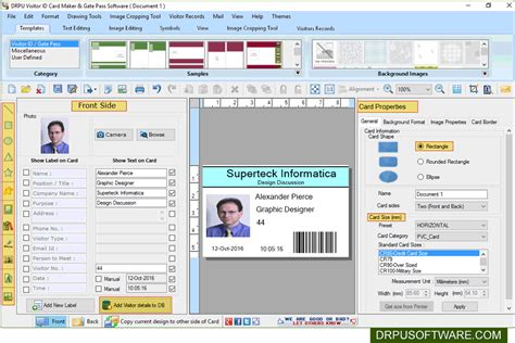 software pattern visitor visitor id gate pass software business office suites