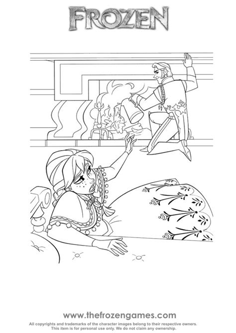 frozen coloring pages anna punches hans anna cold hans betrayal frozen games