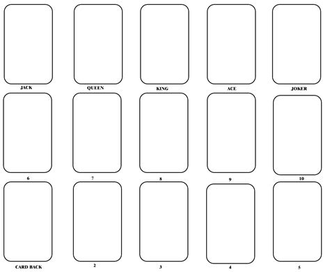 template of 0 10 cards blank card template one day blank