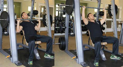 incline bench press on smith machine incline shoulder press on smith machine exercise the