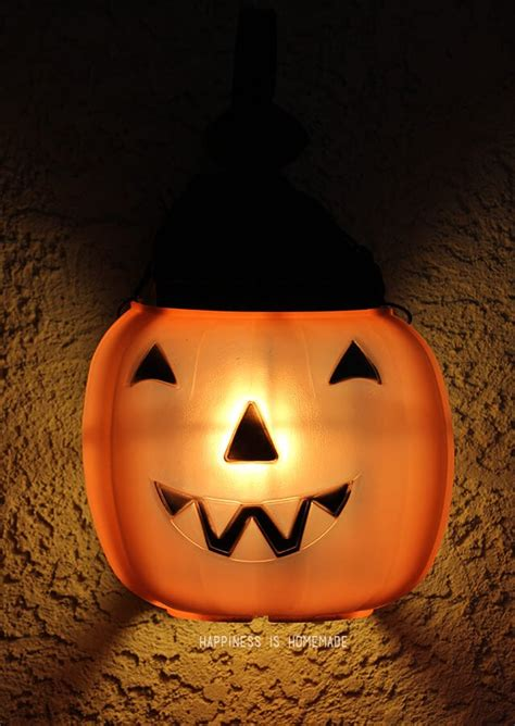 pumpkin porch light cover the cheapest easiest decorations o