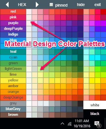 material design color combination material design color palettes software for windows